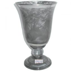 Frosted Glass Goblet/Candle holder Small 17x10cm