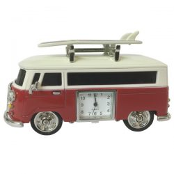Hippy Van with  surfboards & clock - Red