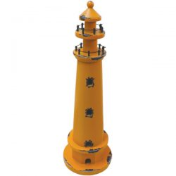Wooden Lighthouse - Retro Orange 44cm