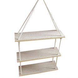 Three Part Rope Shelf 53x35cm