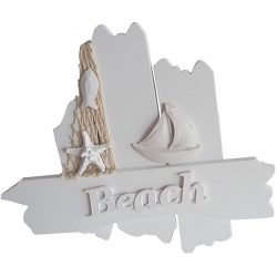 White Wooden Driftwood sign Beach