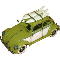 Old Bug with White wall tyres & Surf Boards- Yellow
