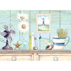 Wooden Plaque White Sideboard 25.4x35.5 cm