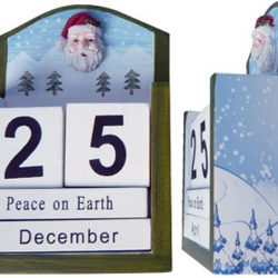 Days To Christmas Calendar - Snow Forrest 13cm