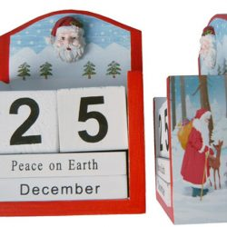 Days To Christmas Calendar - Santa & Reindeer